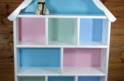 Drewniany domek półka regał dla lalek