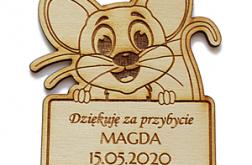 MAGNES magnesy drewno URODZINY podziękowanie