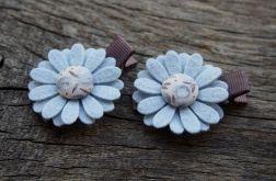 Spinki do włosów kwiatki BLUE