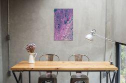 Abstrakcja 30x50 akryle na płótnie