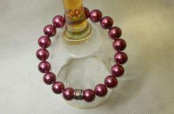 57. Bransoleta z pereł szklanych 10mm
