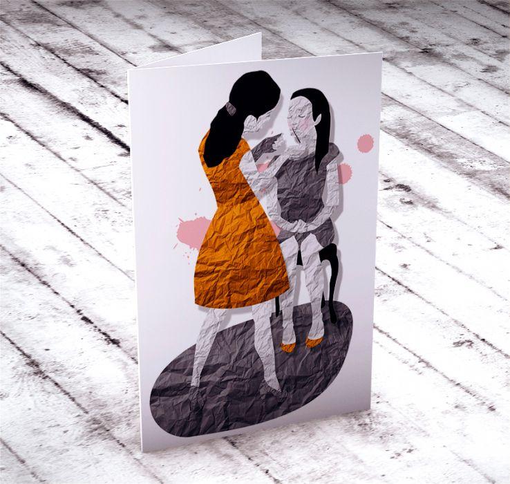 mama i córka... karteczka na życzenia