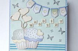 Kartka urodzinowa z muffinkami