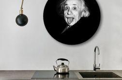 Albert Einstein - obraz w okrągłej ramię