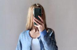 Bomberka długi sweter z kieszeniami 02
