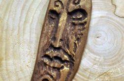 Wood face naszyjnik 2