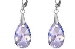 Błękitne kolczyki z kryształami Swarovskiego