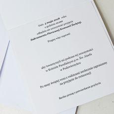Zaproszenie z grafiką kielich - basic