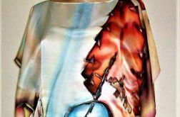 Tunika jedwabna, ręcznie malowana.