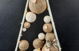 Drewniana choinka Led Hand Made