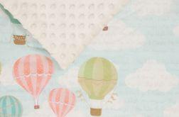 Kocyk Minky balony - ecru
