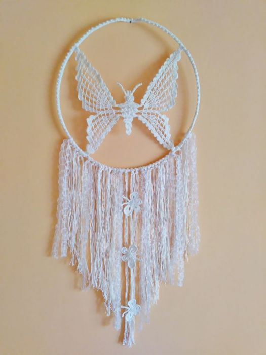 Łapacz snów handmade motyle