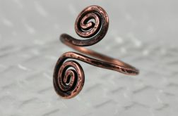 Zawijas - miedziany pierścionek 171108-02