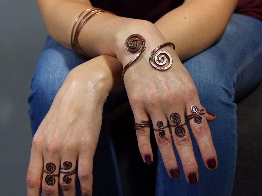 Miedziana obrączka 200131-02 - Miedziana biżuteria