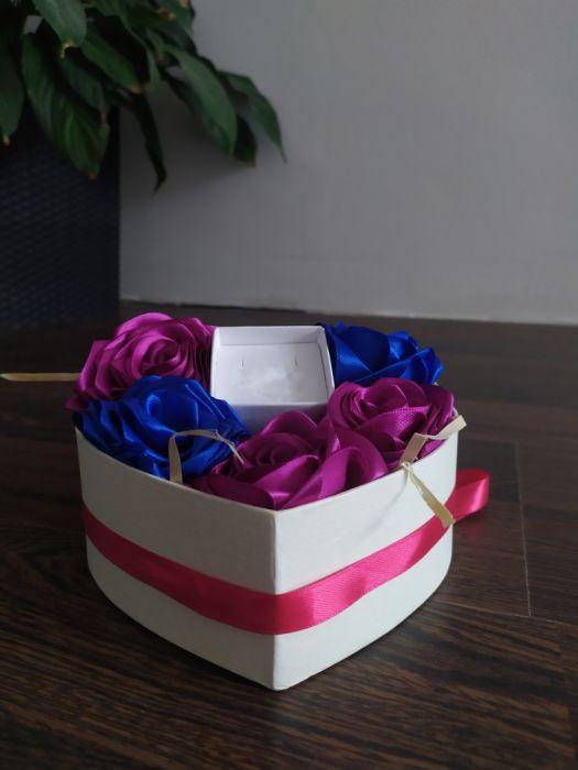 Box kwiatowy z pudełeczkiem na biżuterię - 2