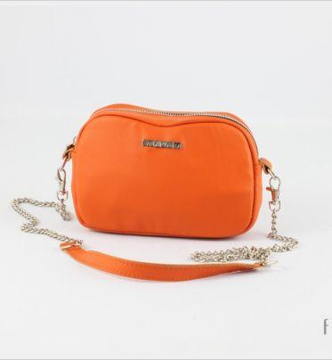 Torebka skórzana Fabioletka jasno pomarańczowa