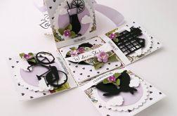 Pudełko na ślub Witraż Lila