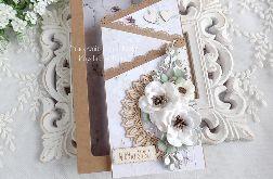 Ślubna kartka kaskadowa w pudełku 468