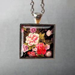 ROMANTICA - piękny naszyjnik z kwiatową grafiką