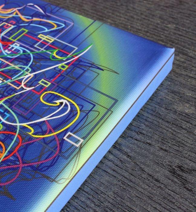 """""""mYŚL"""", wydruk na płótnie 30x30 cm, grafika"""