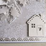 Kartka w bieli - Kartka z domkiem