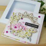 Kwiecista kartka w pudełku -