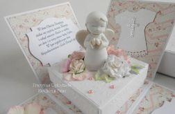Exploding box z aniołkiem i pudełkiem róż