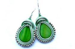Małe Kropelki Sutasz z masa perłową miętowe zielone