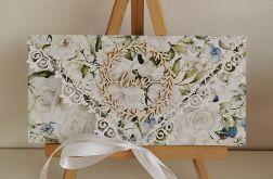 Kartka ślubna kopertowa kopertówka floral VIII love