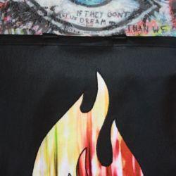 torba torebka czarna worek ogień- na Fundację