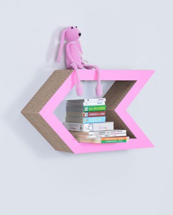 Półka na książki STRZAŁKA   różowy