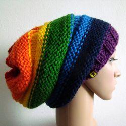 tęczowa czapka