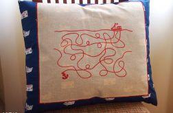 DUŻA poduszka z misiami i labiryntem