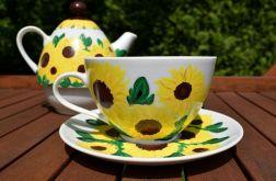 Filiżanka Ręcznie malowana Słoneczniki