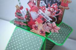 Kartka Popup, Boże Narodzenie.