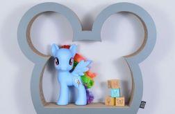 Półka na książki zabawki MYSZKA | szary