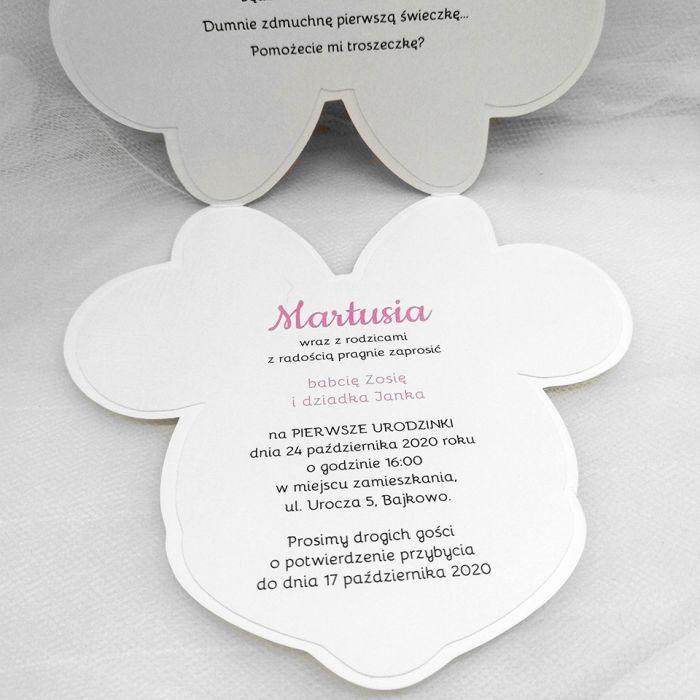 Zaproszenia dla dziewczynki z Myszką Minnie ZUD 006 - Zaproszenia dla dziewczynki z Myszką Minnie (2)