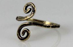 Zawijasy - mosiężny pierścionek 200112-05