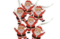 Mikołaje zdrewniane ręcznie malowane