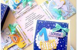 Urocza karteczka na chrzest/narodziny/roczek- wyjątkowe pudełko
