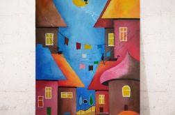 Bajkowe miasteczko - obraz akrylowy