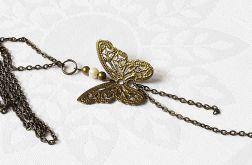 Naszyjnik motylek z perełką