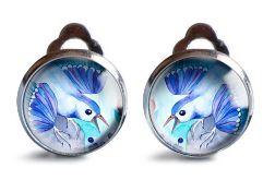 Blueberry bird klipsy z ilustracją