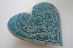 serce niebieskie magnes
