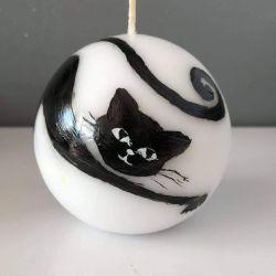 Świeca w kształcie kuli-kot Bonifacy