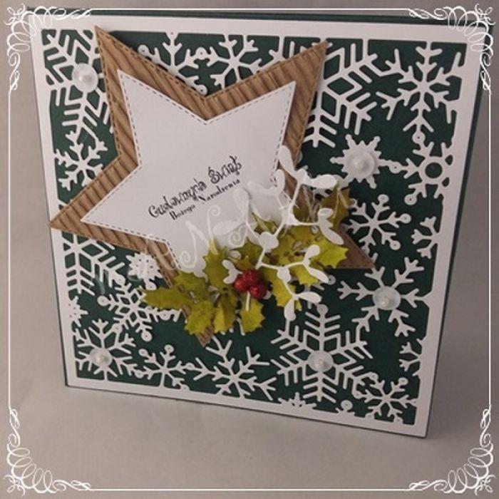 idą święta....kartka cała w śnieżkach01 -