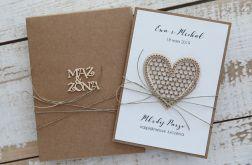 kartka ślubna z personalizacją i pudełkiem+k