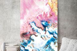 Obraz na płótnie abstrakcja różowa 70x100 cm