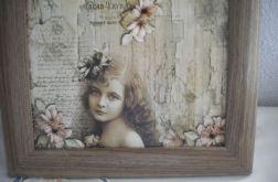 Dziewczyna - obrazek retro