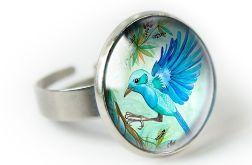 Jungle bird pierścionek z ilustracją